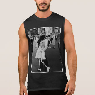 Day of the Dead Kiss in Times Square Sleeveless Shirts