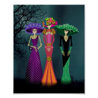 Day of the Dead Ladies Poster