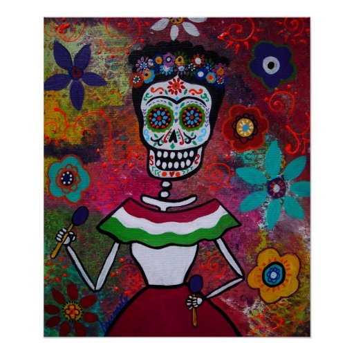 Day of the Dead Lady Posters