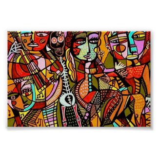 Day Of The Dead Lovers Tango Print