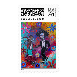 Day of the Dead Mariachi Bailar Stamp