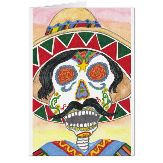 Day of the Dead Mariachi Card