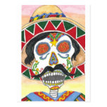 Day of the Dead Mariachi Postcard