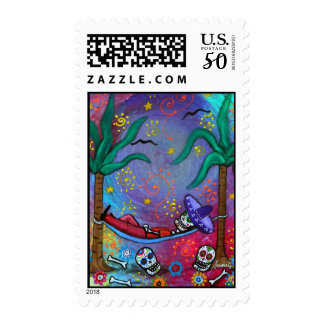 Day of the Dead Mariachi Siesta Stamp