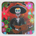 day of the dead mariachi stickers