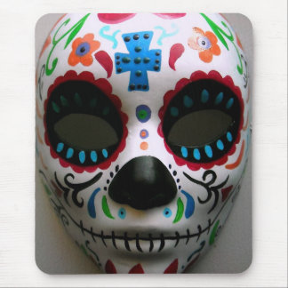 day of the dead mask painting mouse pad
