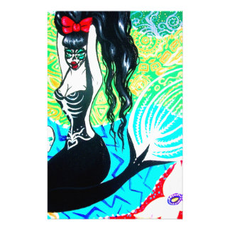 Day of the Dead Mermaid Art Stationery