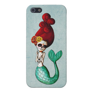 Day of The Dead Mermaid Gal iPhone SE/5/5s Cover