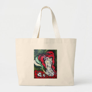 Day of the Dead Mermaid HEART Tote Bag