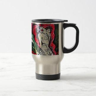 Day of the Dead Mermaid HEART Coffee Mug