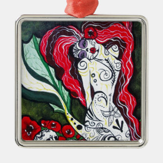 Day of the Dead Mermaid HEART Ornament