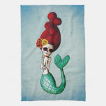 Day of The Dead Mermaid Kitchen Towel