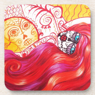 Day of the Dead Mermaid Whimsy Coasters