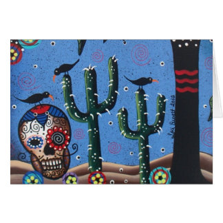Day Of The Dead Mexican Art By Lori Everett Greeting Cards