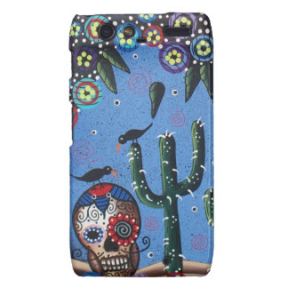 Day Of The Dead Mexican Art By Lori Everett Droid RAZR Covers