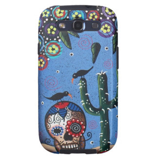 Day Of The Dead Mexican Art By Lori Everett Samsung Galaxy S3 Case