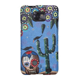 Day Of The Dead Mexican Art By Lori Everett Galaxy SII Case