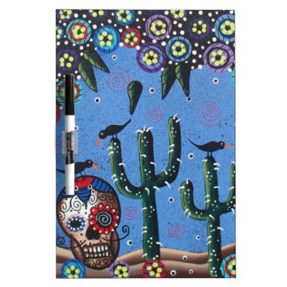 Day Of The Dead Mexican Art By Lori Everett Dry Erase Whiteboards