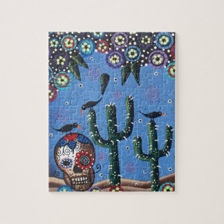 Day Of The Dead Mexican Art By Lori Everett Jigsaw Puzzle