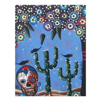 Day Of The Dead Mexican Art By Lori Everett Personalized Letterhead