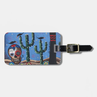 Day Of The Dead Mexican Art By Lori Everett Tag For Luggage