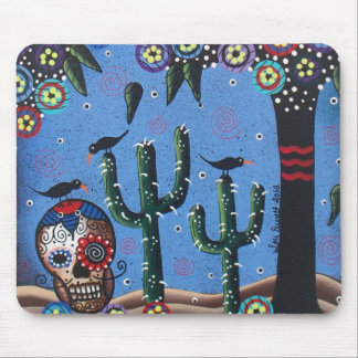 Day Of The Dead Mexican Art By Lori Everett Mousepad