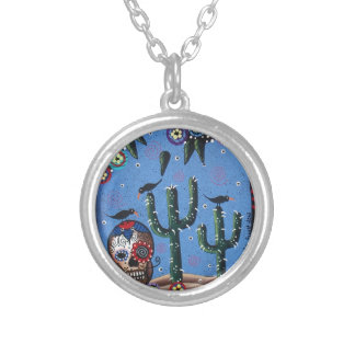 Day Of The Dead Mexican Art By Lori Everett Pendants