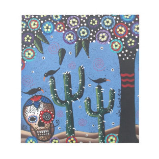 Day Of The Dead Mexican Art By Lori Everett Notepad
