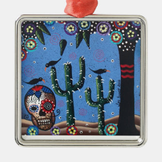 Day Of The Dead Mexican Art By Lori Everett Ornament