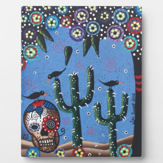 Day Of The Dead Mexican Art By Lori Everett Display Plaques