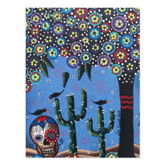 Day Of The Dead Mexican Art By Lori Everett Post Cards