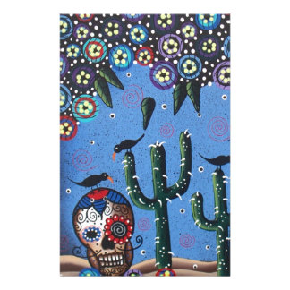 Day Of The Dead Mexican Art By Lori Everett Stationery Design
