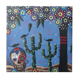 Day Of The Dead Mexican Art By Lori Everett Tiles