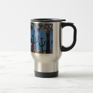 Day Of The Dead Mexican Art By Lori Everett Travel Mug