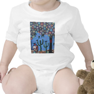Day Of The Dead Mexican Art By Lori Everett Baby Bodysuits