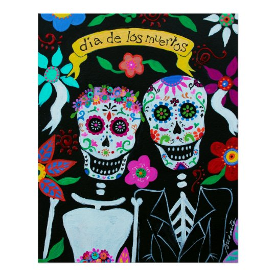 DAY OF THE DEAD MEXICAN ARTIST COUPLE POSTERS