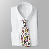Day of the Dead Mexican Polka Dot Sugar Skull Neck Tie