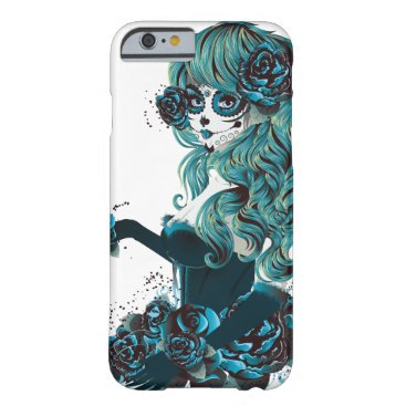 Halloween Themed Day of the Dead Mexican Sugar Skull Girl Barely There iPhone 6 Case