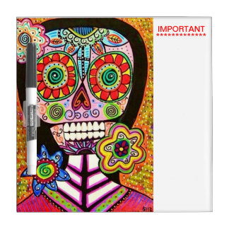 Day Of The Dead Mexican Woman : Important Dry-Erase Board