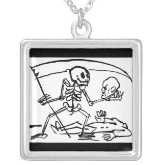Day of the Dead, Mexico. Circa 1951. Square Pendant Necklace