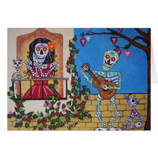 DAY OF THE DEAD  Midnight Serenade Greeting Card
