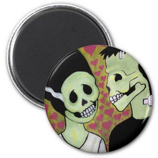 Day of the Dead Monster Love Fridge Magnets