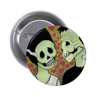 Day of the Dead Monster Love Pinback Buttons