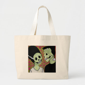 Day of the Dead Monster Love Tote Bags