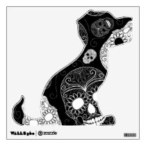 Day of the Dead Mosaic Art Black & White Wall Sticker