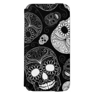Day of the Dead Mosaic Art Black & White Incipio Watson™ iPhone 6 Wallet Case