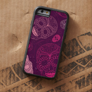 Day of the Dead Mosaic Art Pink & Purple Tough Xtreme iPhone 6 Case