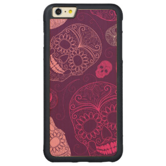 Day of the Dead Mosaic Art Pink & Purple Carved® Maple iPhone 6 Plus Bumper Case