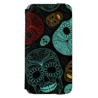 Day of the Dead Mosaic Art Red & Blue Incipio Watson™ iPhone 6 Wallet Case