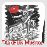 Day of the Dead motif 4 Square Sticker